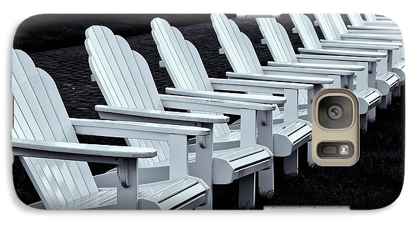 Galaxy Case featuring the photograph Congress Hall Chairs by Tom Singleton