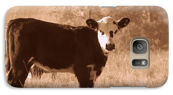 Galaxy Case featuring the photograph Cow by France Laliberte