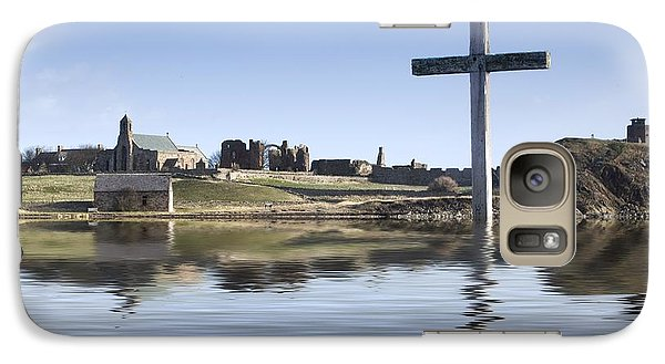 Galaxy Case featuring the photograph Cross In Water, Bewick, England by John Short