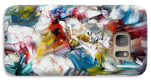 Galaxy Case featuring the painting Crystal Layers by Kathy Sheeran