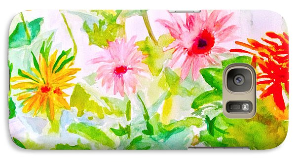 Galaxy Case featuring the painting Daisy Daisy by Beth Saffer