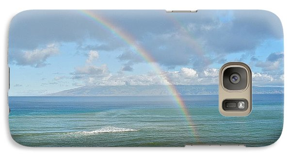 Galaxy Case featuring the photograph Double Rainbow In Maui by Kirsten Giving
