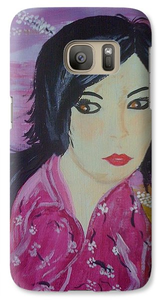 Galaxy Case featuring the painting Eastern Beauty by Judi Goodwin