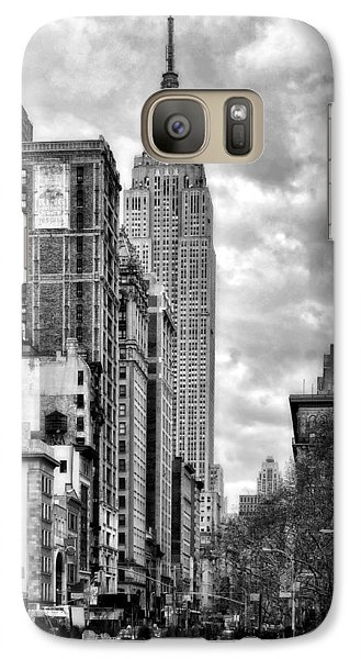 Galaxy Case featuring the photograph Empire State Building by Michael Dorn
