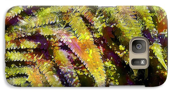 Galaxy Case featuring the photograph Fern In Dappled Light by Judi Bagwell