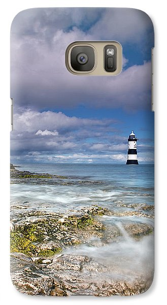 Galaxy Case featuring the photograph Fishing By The Lighthouse by Beverly Cash