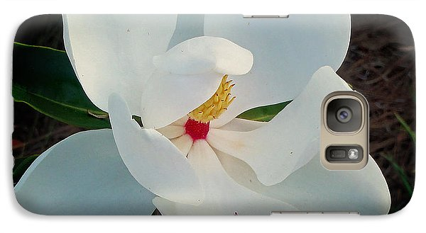Galaxy Case featuring the photograph White Florida Magnolia by Nava Thompson
