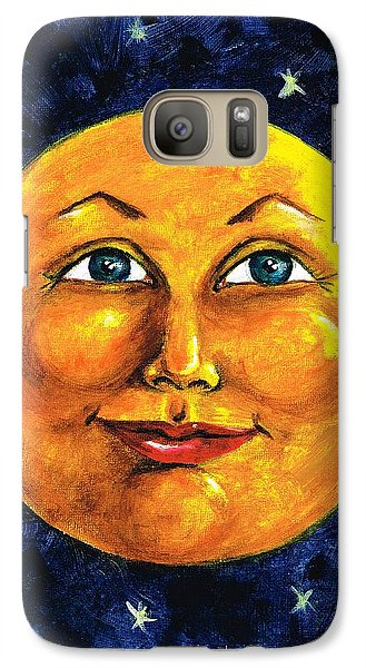 Galaxy Case featuring the painting Full Moon by Sarah Farren
