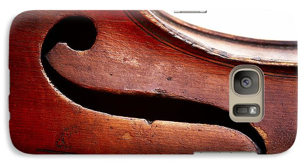 Violin Galaxy S7 Case - G Clef by Michal Boubin