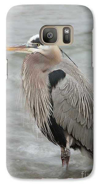Galaxy Case featuring the photograph Great Blue Heron by Doug Herr