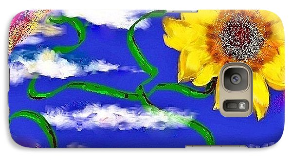 Galaxy Case featuring the drawing Happiness Is A Sunflower by Lori  Lovetere