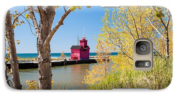 Galaxy Case featuring the photograph Holland Mi Lighthouse by Larry Carr