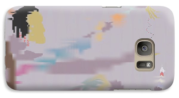 Galaxy Case featuring the painting Kundalini Reveals Dna by Kevin McLaughlin