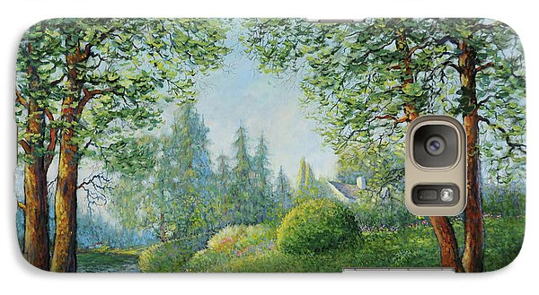 Galaxy Case featuring the painting Lake Steilacoom by Charles Munn