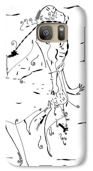 Galaxy Case featuring the drawing Malipenga Dance - Malawi by Gloria Ssali