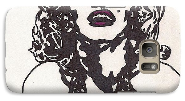 Galaxy Case featuring the drawing Marilyn Monroe by Jeremiah Colley