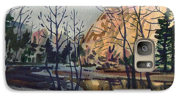 Galaxy Case featuring the painting Merced River In Winter by Donald Maier
