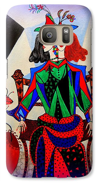 Galaxy Case featuring the painting Metamorphosis Of Eleonore by Marie Schwarzer