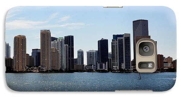 Galaxy Case featuring the photograph Miami Skyline by Pravine Chester
