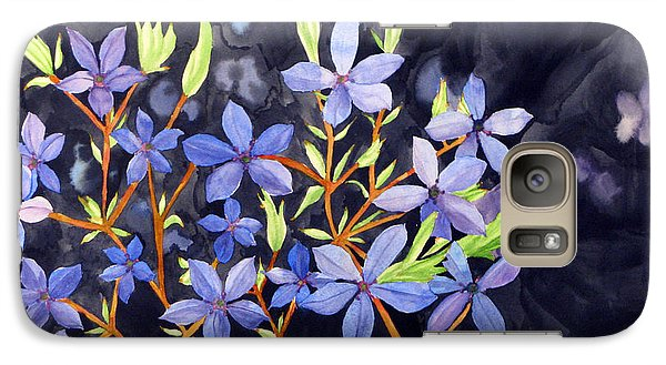 Galaxy Case featuring the painting Midnight Blue by Debi Singer
