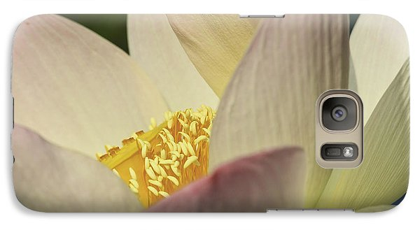 Galaxy Case featuring the photograph Nelumbo 'pink And Yellow' by Perla Copernik