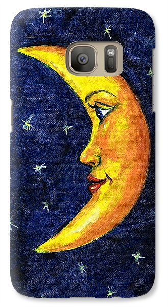 Galaxy Case featuring the painting New Moon by Sarah Farren