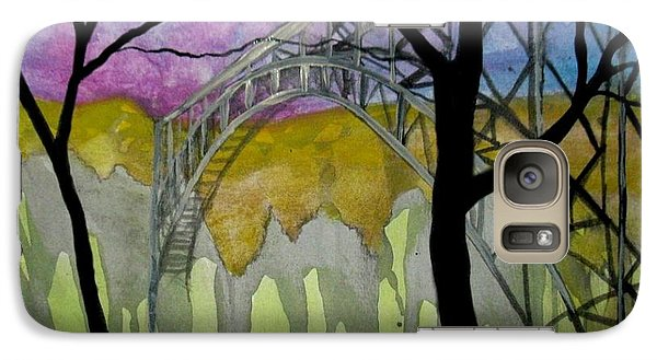 Galaxy Case featuring the painting New River George Bridge by Amy Sorrell