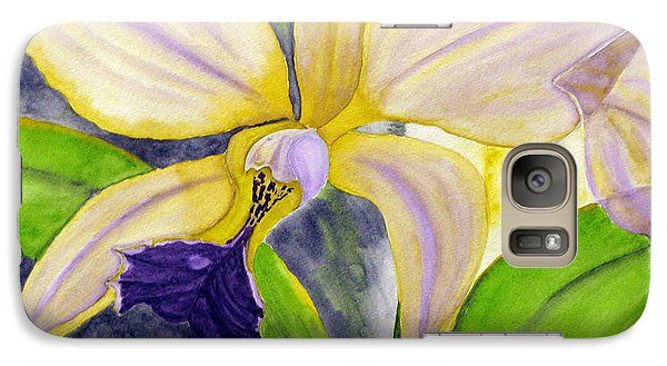 Galaxy Case featuring the painting No Ordinary Orchid by Debi Singer