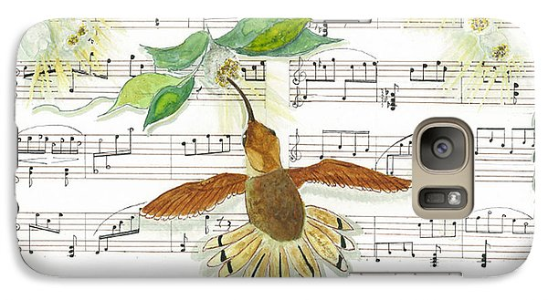 Galaxy Case featuring the mixed media 1 Of 2 - Natures Symphony-the Conductor by Joy Braverman