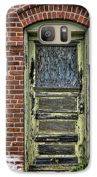 Galaxy Case featuring the photograph Old Green Door by Joanne Coyle