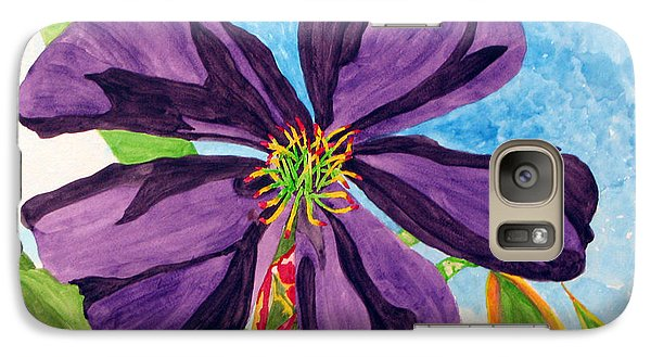 Galaxy Case featuring the painting Our Very Bold Tibouchina by Debi Singer