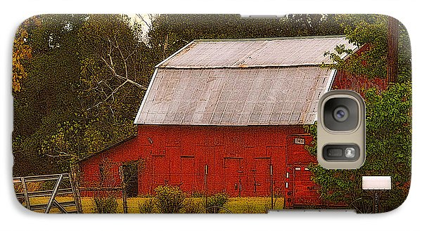 Galaxy Case featuring the photograph Ozark Red Barn by Lydia Holly