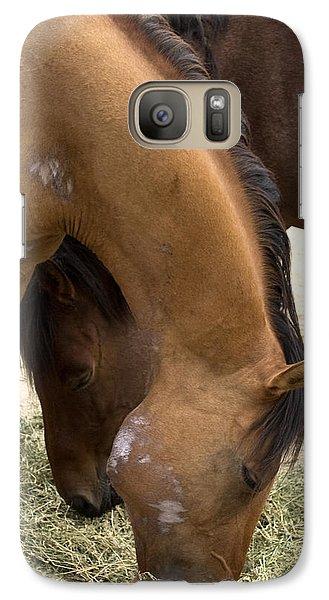 Galaxy Case featuring the photograph Parallel Ponies by Lorraine Devon Wilke