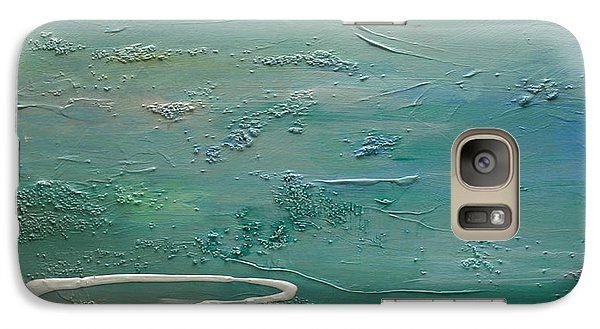 Galaxy Case featuring the painting Pearls Of Tranquility by Dolores  Deal