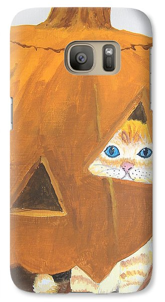 Galaxy Case featuring the painting Peekaboo by Norm Starks