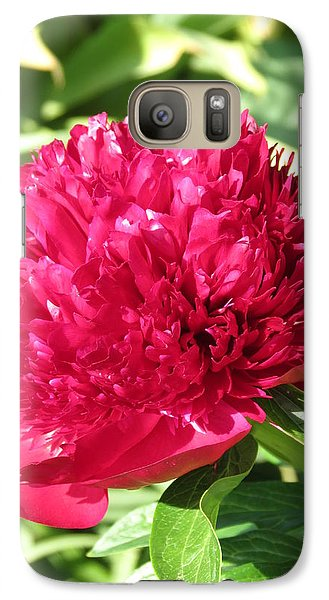 Galaxy Case featuring the photograph Peony by Rebecca Overton