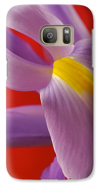 Galaxy Case featuring the photograph Photograph Of A Dutch Iris by Perla Copernik