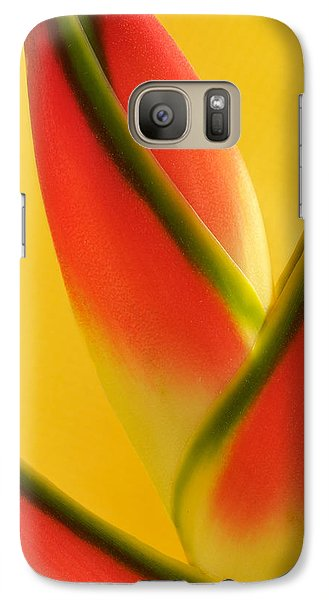 Galaxy Case featuring the photograph Photograph Of A Lobster Claws Heliconia by Perla Copernik