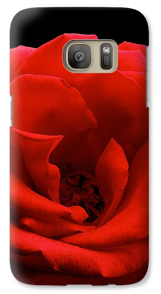 Galaxy Case featuring the photograph Photograph Of A Red Rose by Perla Copernik