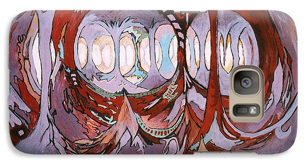 Galaxy Case featuring the painting Plato's Cave Of Strange Light by Charles Munn