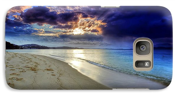 Galaxy Case featuring the photograph Port Stephens Sunset by Paul Svensen