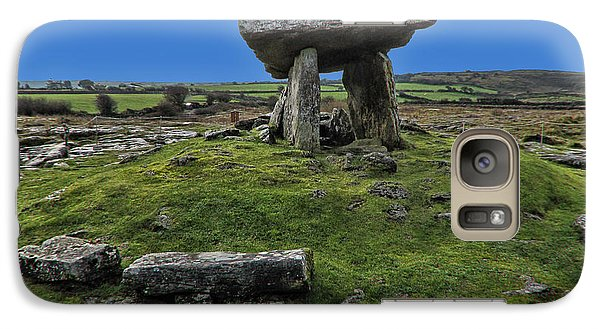 Galaxy Case featuring the photograph Poulnabrone Dolmen by David Gleeson
