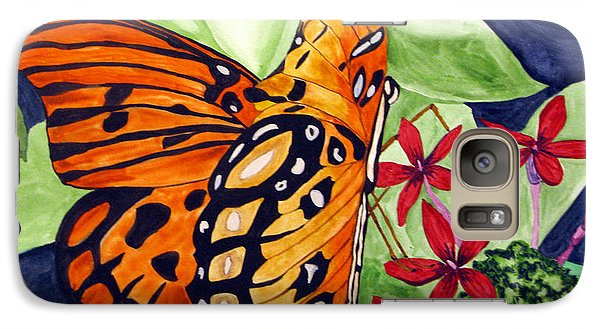 Galaxy Case featuring the painting Precocious Butterfly by Debi Singer