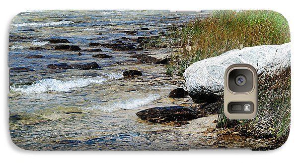 Galaxy Case featuring the photograph Quiet Waves Along The Shore by Janice Adomeit