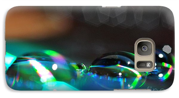 Galaxy Case featuring the photograph Rainbow Drops by Sylvie Leandre