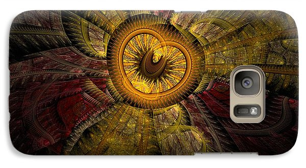 Galaxy Case featuring the digital art Red Sky At Night by NirvanaBlues