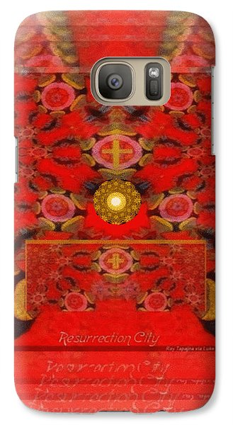 Galaxy Case featuring the digital art Resurrection City  by Ray Tapajna