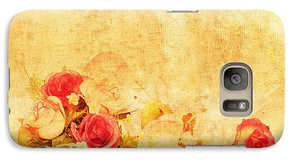 Rose Galaxy S7 Case - Retro Flower Pattern by Setsiri Silapasuwanchai