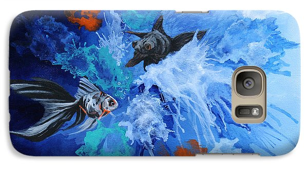 Galaxy Case featuring the painting Richies Fish by Wendy Shoults