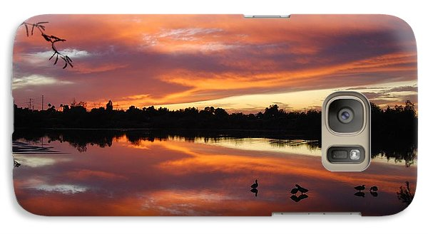 Galaxy Case featuring the photograph Riparian Sunset by Tam Ryan